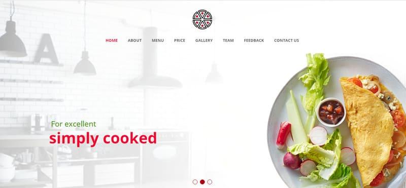 Бесплатный шаблон сайта для ресторана