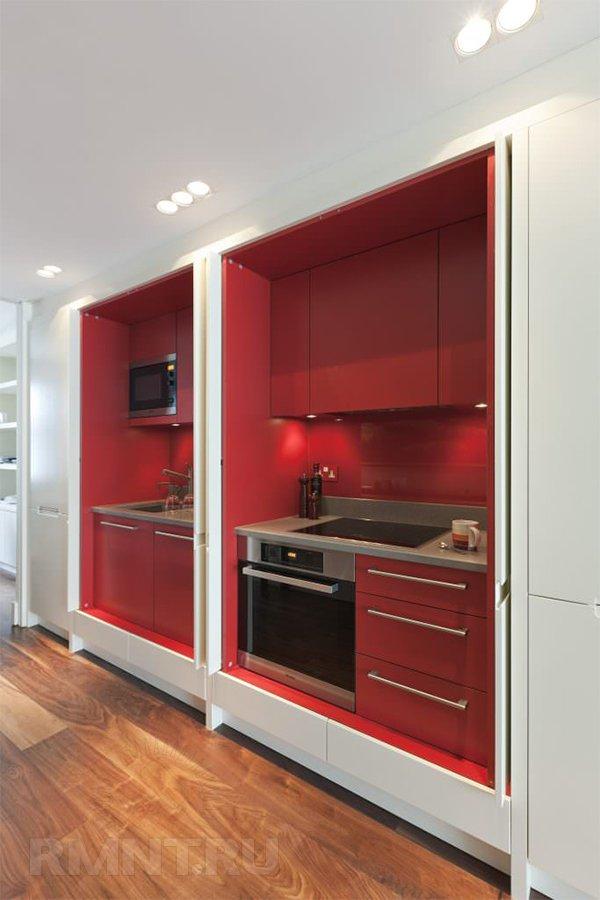 Кухня в нише без окна